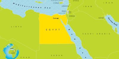 Kairo Mapu Mape Kairo Egiptu